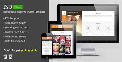 mycard responsive vcard resume html template 30 best html responsive business card templates 2015