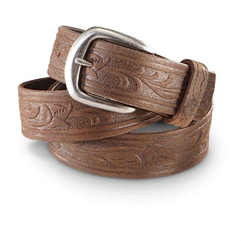 guide gear 1 5 quot western leather belt 578225 belts
