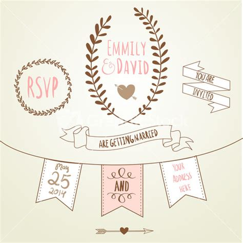 Wedding Invitation Vector by Royalty Free Wedding Invitation Vector Graphicstock