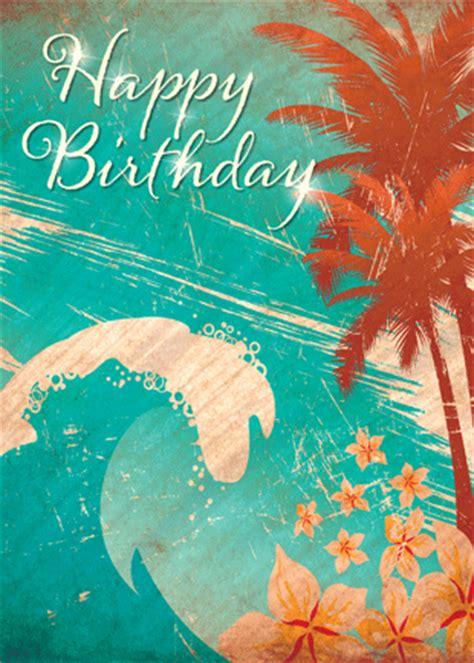 card template hawaian birthday hawaiian happy birthday greeting card hawaiian wave