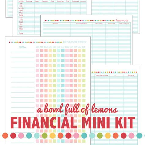 organizational printables bundle sale nearly 300 pages at