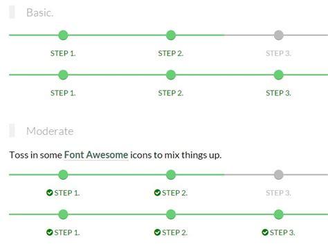 Top Navigation Bar Css Responsive Step Progress Indicator With Pure Css Css Script