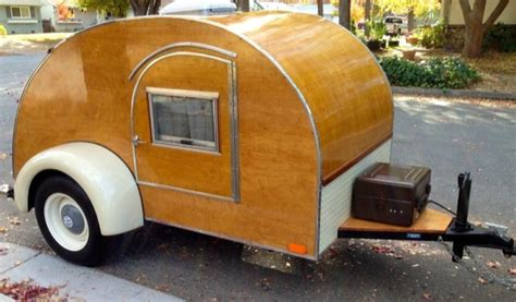 retro teardrop cer for sale wooden hand built teardrop cer for sale