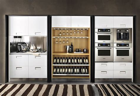 Pocket Door Kitchen Cabinets The Pocket Cabinets From Arclinea