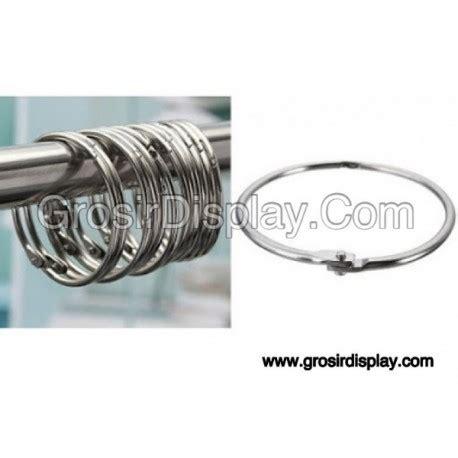 Hanger Jilbab Besi Krom ring card krom jilbab 7cm pajangan kerudung display toko