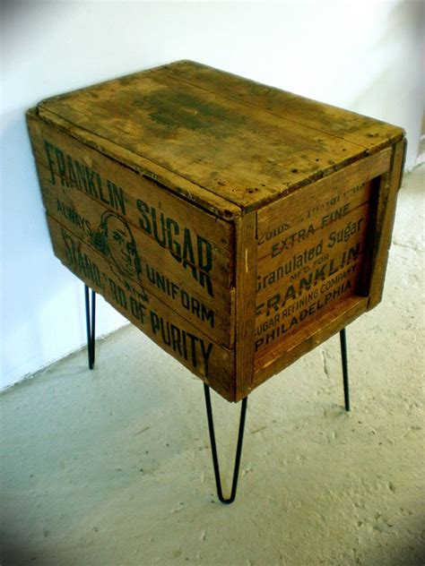 crate side table shipping crate side table tbl office inspiration