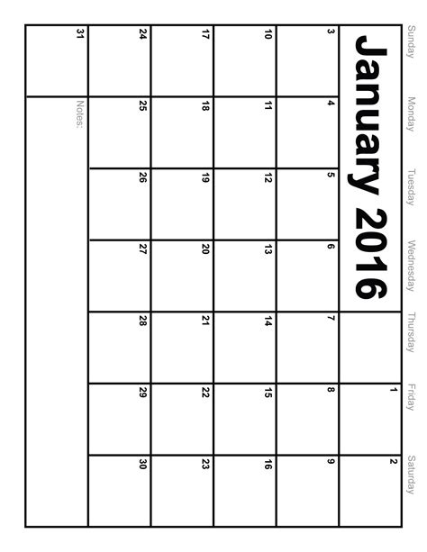 january 2016 calendar printable template 8 templates