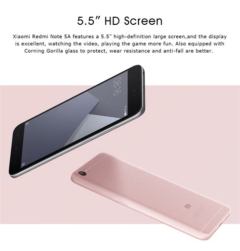 Xiaomi Redmi Note Lima A Snapdragon 425 4g Lte 13mp 5mp Tam xiaomi redmi note 5a 4g phablet global version gray ebay