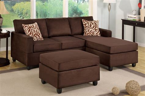 sofa with matching ottoman chocolate brown sectional couch with free matching ottoman