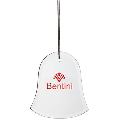 promotional ornaments glass bell promotional ornament