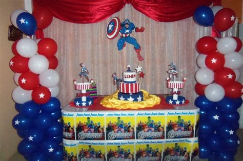 Capitan America Decoracion Ambientacion Cotilln Fiestas | sencilla decoracion capitan america kermesse pinterest
