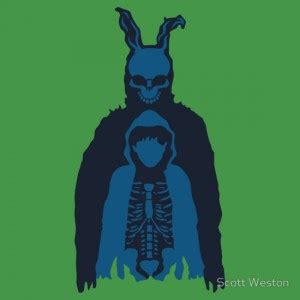 Frank The Bunny Outline by T Shirts For Every Cult Donnie Darko