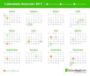 Calendario Bancario 2017 Calendario Bancario De 2017 Facturalegal