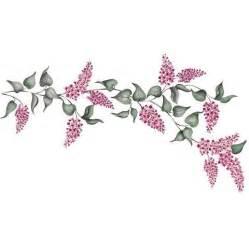 Flower stencils lilacs floral amp vine stencil royal
