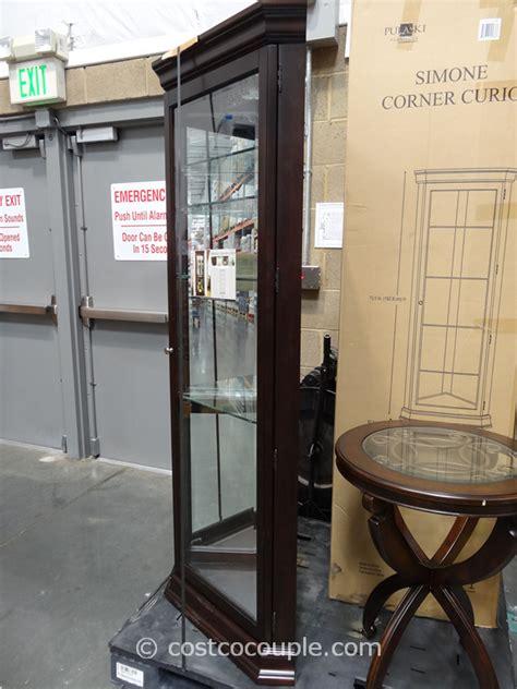 pulaski curio costco pulaski furniture simone corner curio