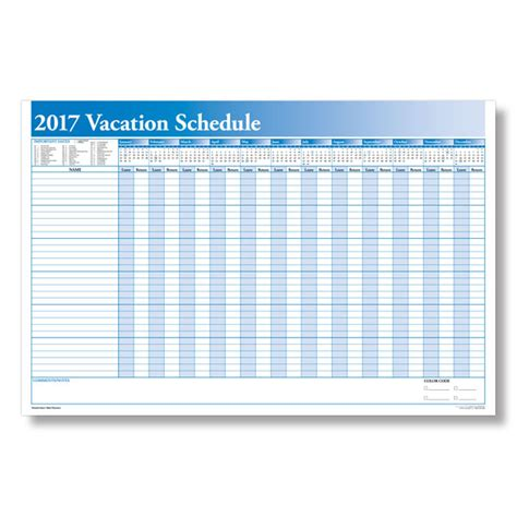 Schedule Employee Time Off With A Yearly Vacation Scheduler Time Calendar Template 2017