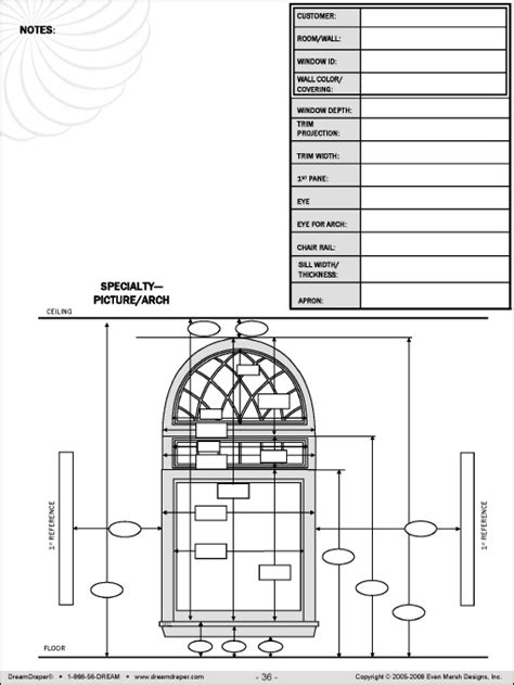 drapery measurement worksheet measuring forms dreamdraper 174