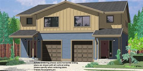 seattle house plans narrow lot duplex house plans narrow and zero lot line