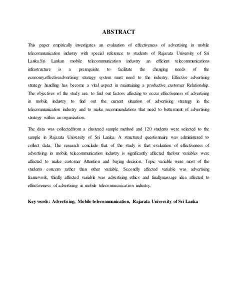 exle abstract thesis about mobile application an evaluation of effectiveness of advertising in mobile