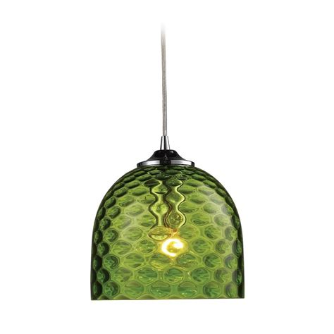 Mini Pendant Light With Green Glass 31080 1grn Green Pendant Lighting
