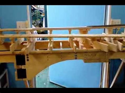 swing bridge model ho scale union pacific 12x20 layout progress 1 benchwork