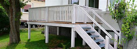garten geländer holz dekor bauen treppe