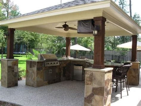 Covered Outdoor Kitchen Plans Outdoor Kitchen Ideas Kitchens Kitchen Remodeling