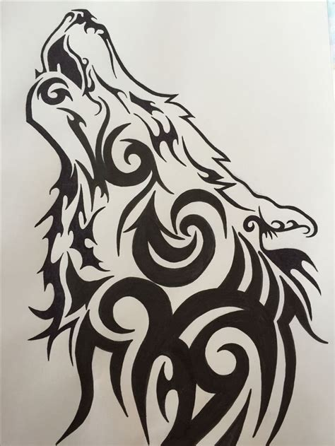 howling wolf tribal tattoo best 25 tribal wolf ideas on tribal wolf