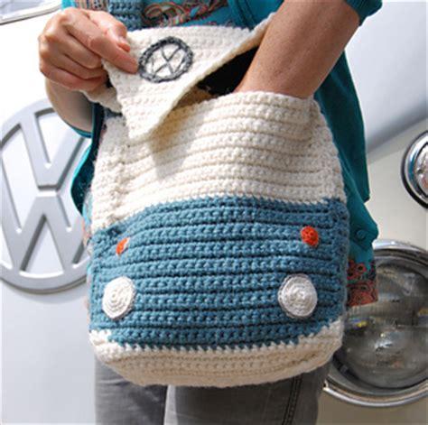 Vw Crochet Bag Pattern | ravelry splitty cervan kombi shoulder bag pattern by