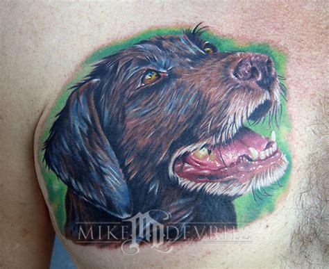 tattoo fixers dog portrait mike devries tattoos animal dog portrait tattoo