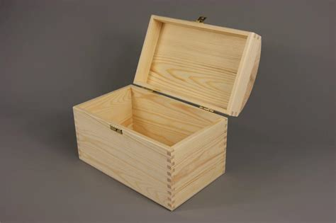 Large Wedding Gift Card Box - large treasure chest plain wooden box 25 x 15 x 17 cm wedding cards storage ebay