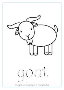 new year goat worksheets goat word tracing
