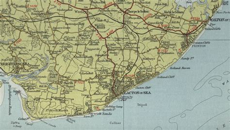clacton on sea map clacton on sea map