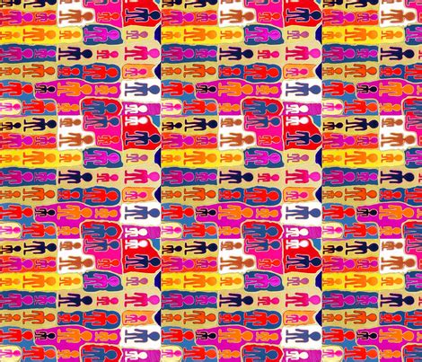 Design By Humans Material | humans fabric bright spoonflower