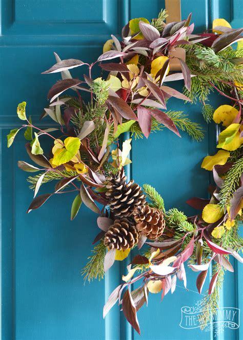 fresh diy fall wreath   foraged