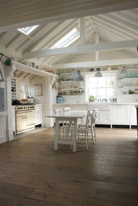open kitchen love  beams  ceiling whitekitchen