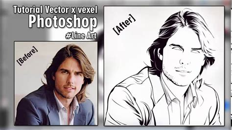 tutorial vektor vexcel tutorial vector x vexel photoshop line art tom cruise