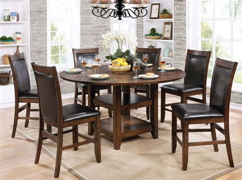 chesapeake ii dining room counter meagan ii brown cherry round counter height dining room