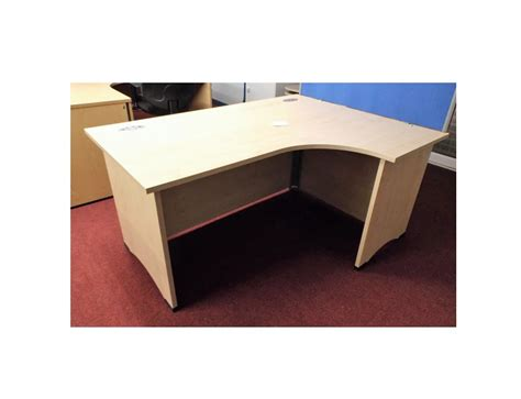 Maple Corner Desk Corner Desk Maple Maple Corner Desk Icarus Office Furniture Maple 1800mm Radial Corner Desk