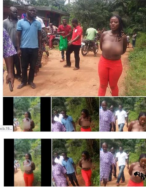 disgraced forced to marry nigerian lady publicly disgraced for allegedly stealing biscuit photos information nigeria