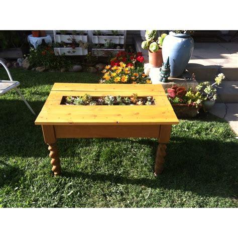 repurposed succulent coffee table furniture diy segment