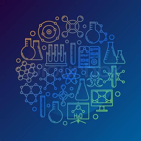 Log Home Design Plans by Chemistry Concept Symbol On Dark Blue Background Vector