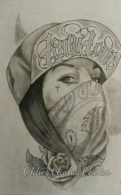 imagenes de calaveras gangster chicano swag style girl drawing tattoos skull chicano