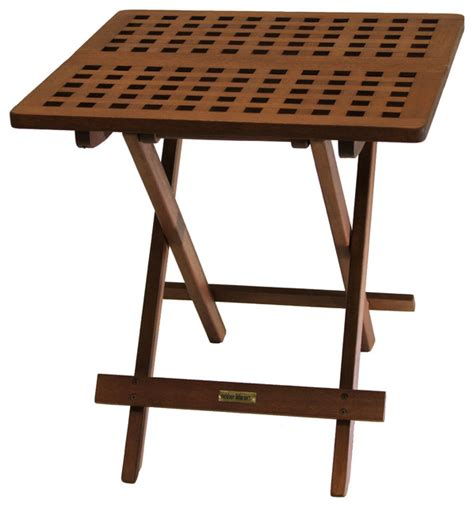 Folding Outdoor Side Table Eucalyptus Folding Side Table Outdoor Side Tables By Outdoor Interiors