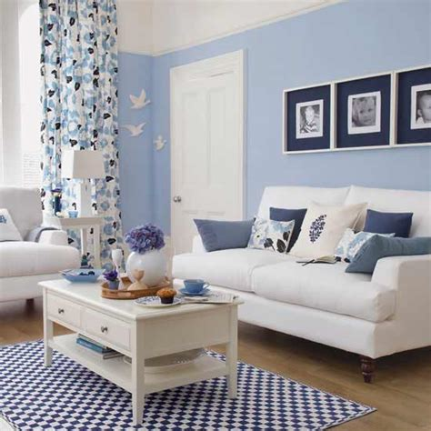 Blue In Living Room by Living Room Light Blue Minimalistic Livingroom Design