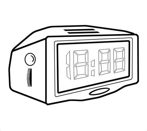 printable digital clock 9 printable clock templates free word pdf format