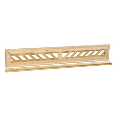 outdoor essentials 1 ft x 6 ft decorative lattice wood