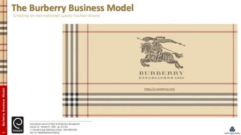 Burberry Mba by Burberry Business Model