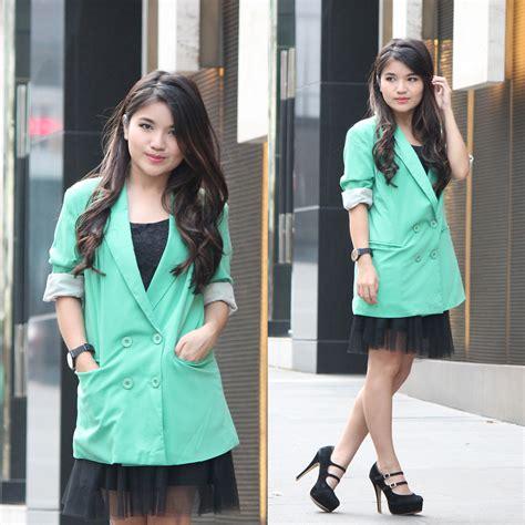 Blazer Padini mai kitschen green oversized blazer padini tulle