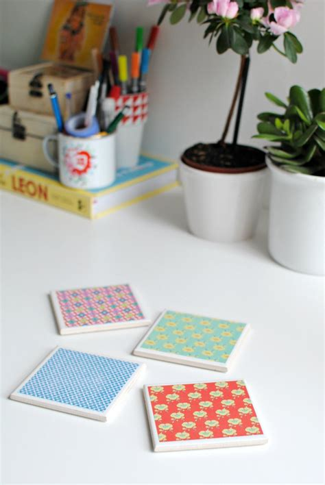 make coasters diy make your own tile coasters burkatron